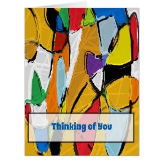 Yellow Abstract Art 8195 Greeting Card