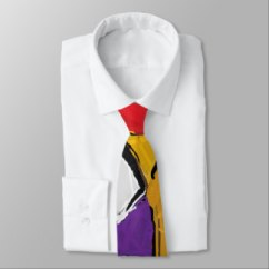 Yellow Abstract Art 8195 Necktie