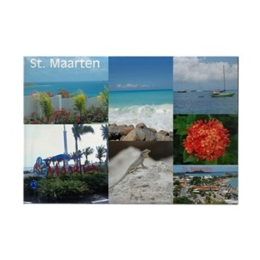 Sint Maarten Photo Collage Magnet - North Carolina