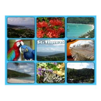 St. Thomas Photo Collage Postcard