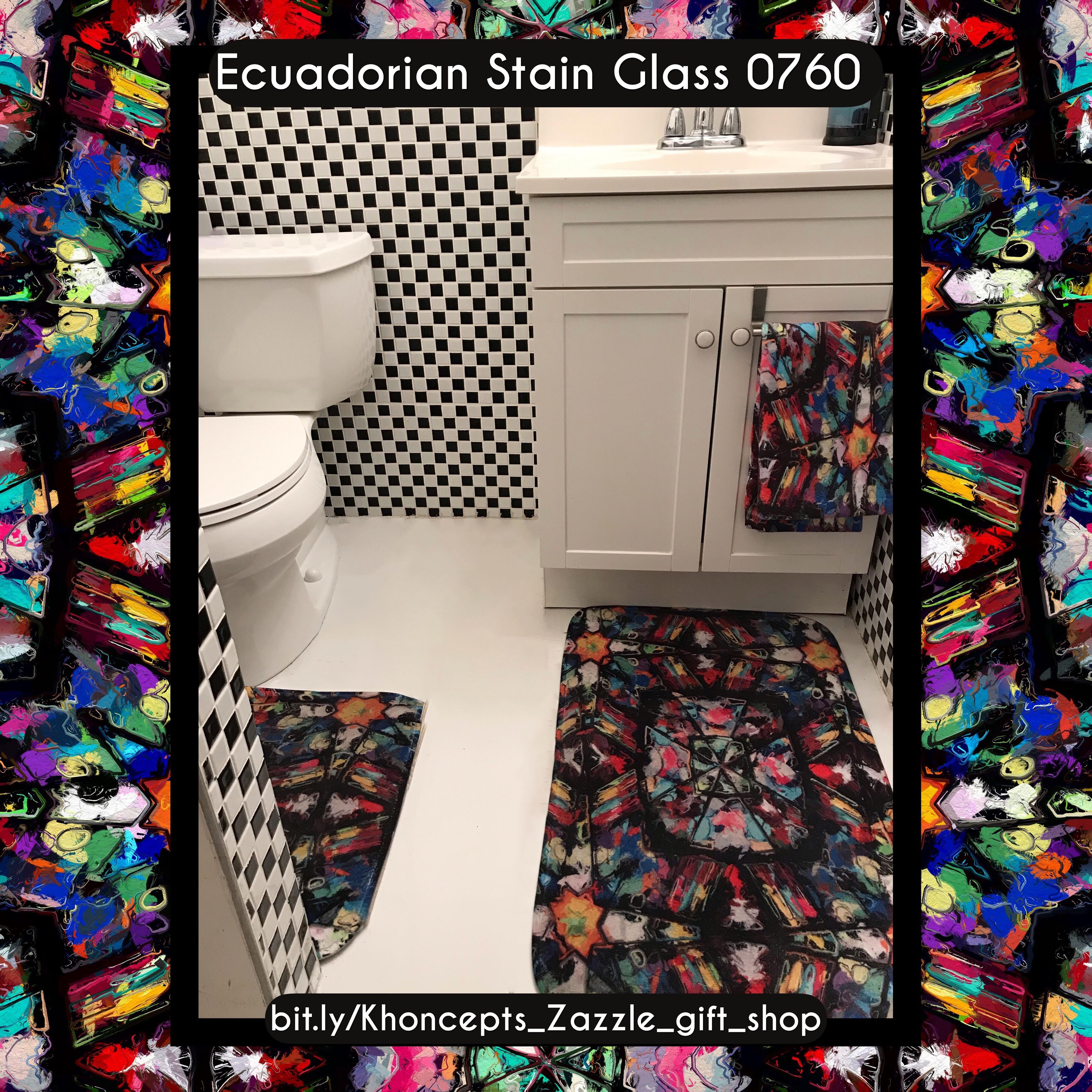 Ecuadorian stained glass art designed home decor